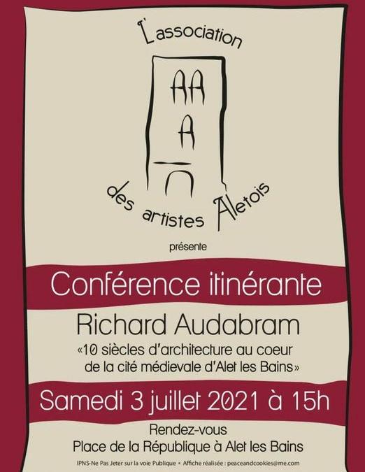 Conférence itinérante le 3 juillet à 15h
